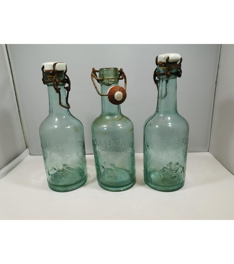 Buteliai alaus tarpukario J. B. Volfas-Engelman, šviesaus stiklo. 3 vnt. Kaina po 18