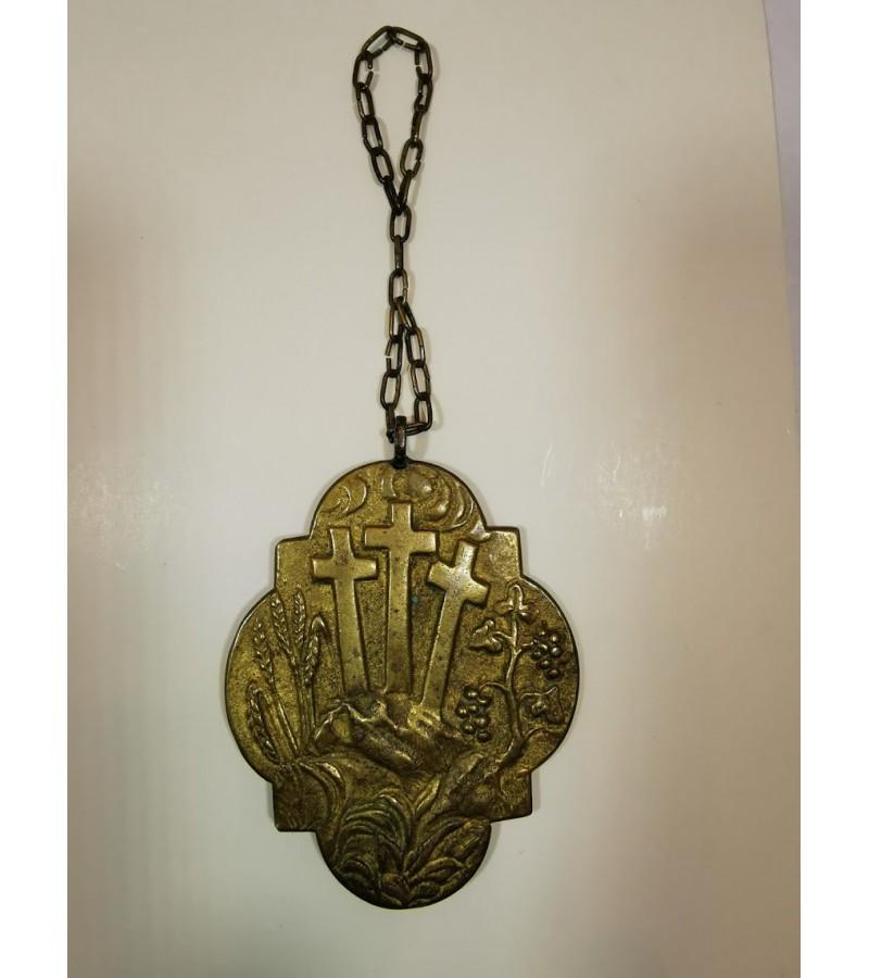 Religinis, antikvarinis medalionas. Kaina 26