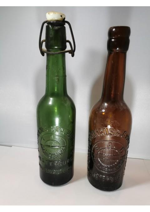 Buteliai alaus antikvariniai INSRERBURG reljefiniais užrašais. Kaina po 8