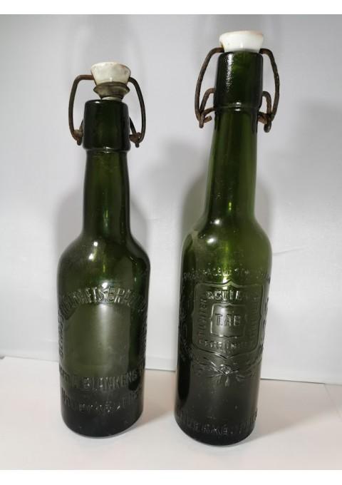 Buteliai alaus antikvariniai reljefiniais užrašais. Kaina po 7.