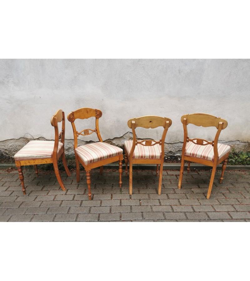 Kėdės antikvarinės, Biedermeier stiliaus. 4 vnt. Kaina po 43
