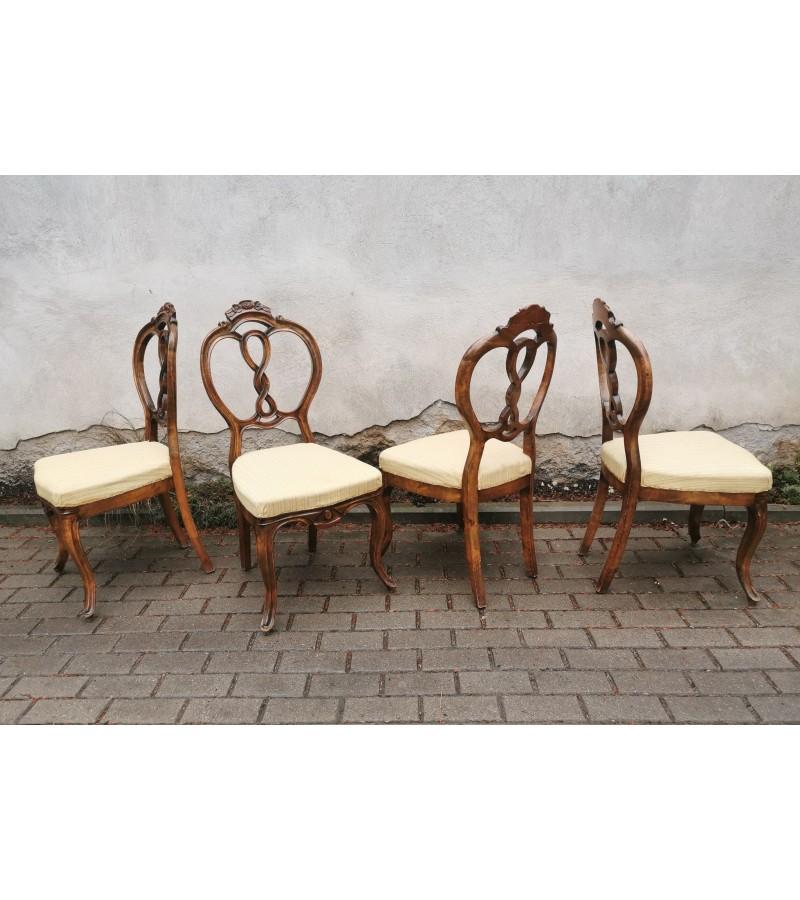 Kėdės antikvarinės. 4 vnt. Kaina po 42