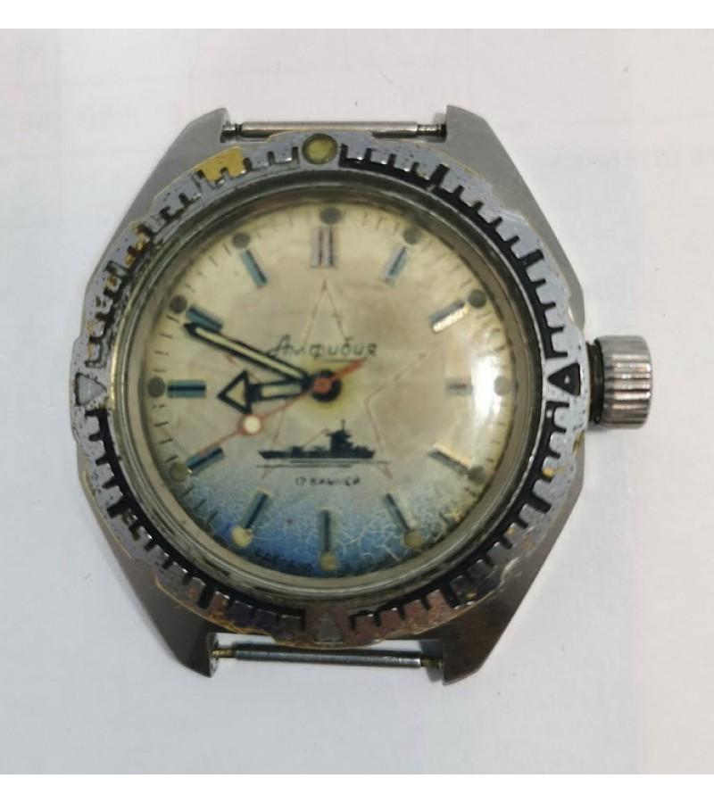 Laikrodis Amfibija. Nr. 028508, tarybinis, veikiantis. Kaina 73