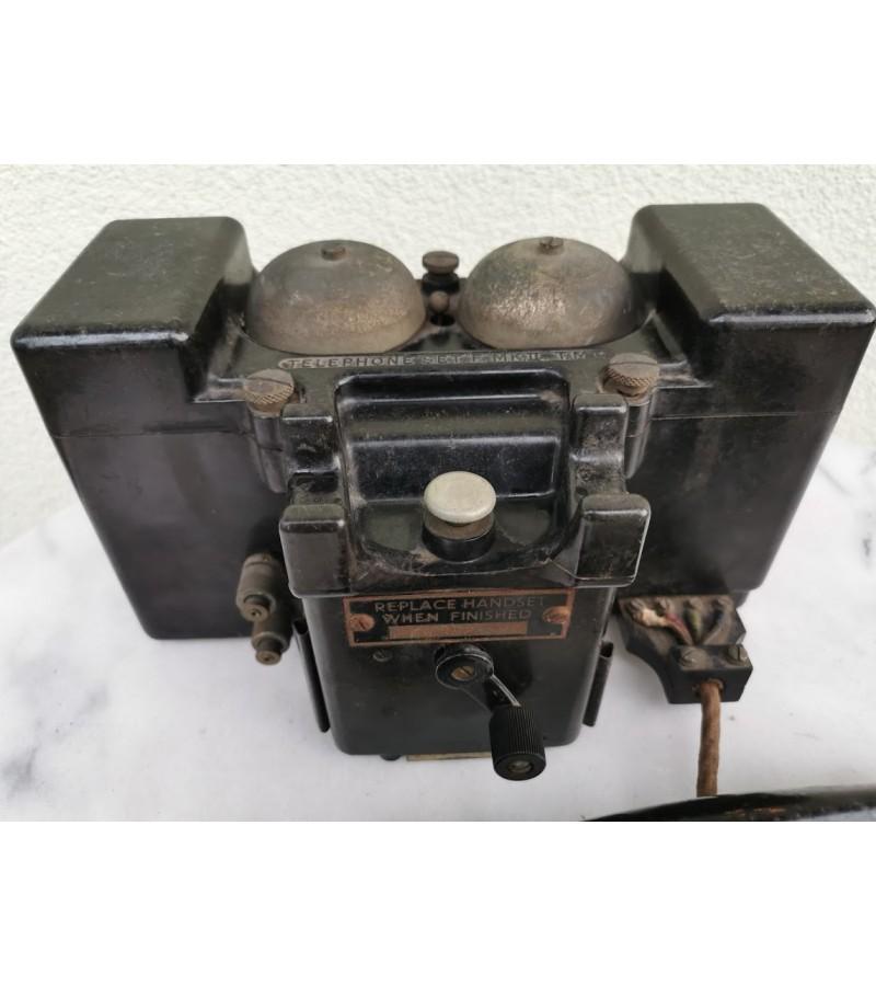 Telefonas antikvarinis, TMC, angliškas. 1941 m. Kaina 187