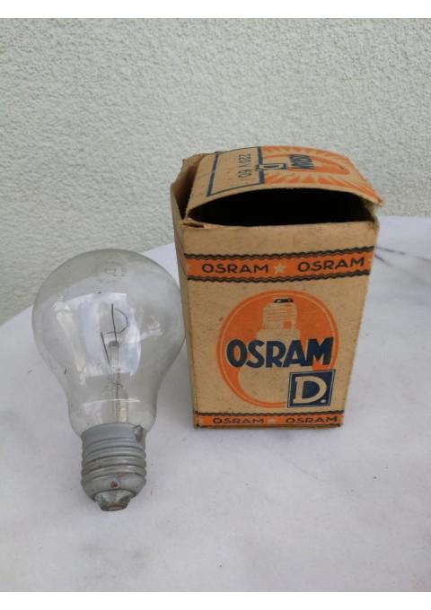 Lemputė OSRAM antikvarinė. Šviečianti. Kaina 16