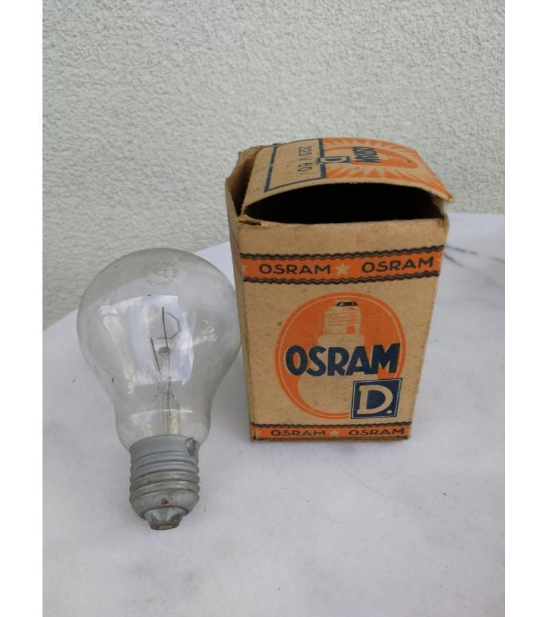 Lemputė OSRAM antikvarinė. Šviečianti. Tarpukario Lietuva. Kaina 26