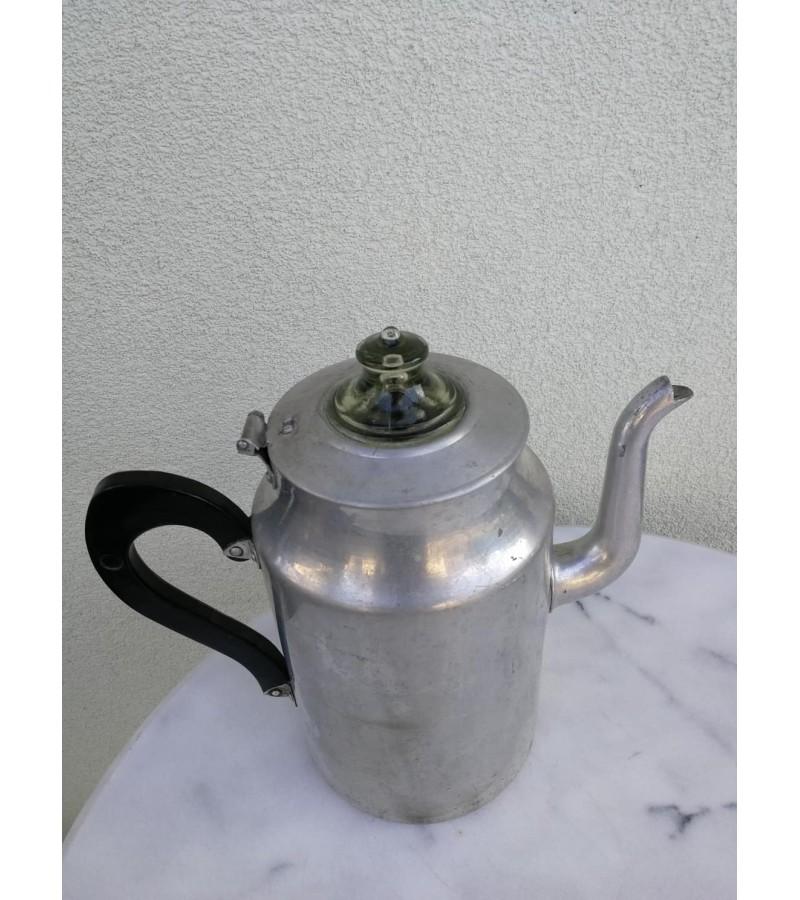 Arbatinis, kavinukas aliuminis antikvarinis. Kaina 28