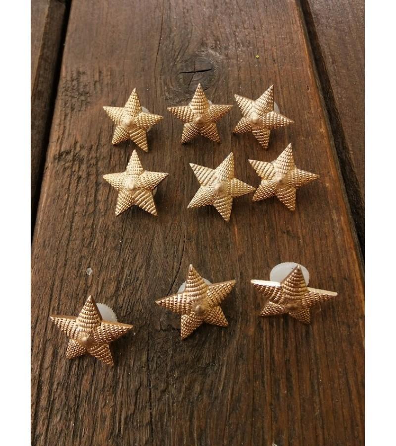 Ženkleliai žvaigždutės didesnės, tarybinės, sovietinių laikų. 20 vnt. Kaina po 1