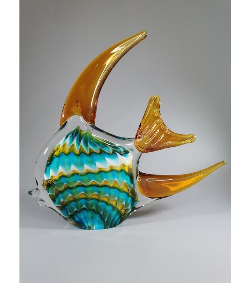 Statulėlė, figūrėlė stiklinė Žuvis. Prancūzija. Kaina 68