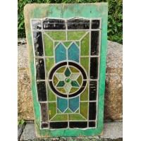 Vitražas antikvarinis. Stiklas, švinas. Kaina 127