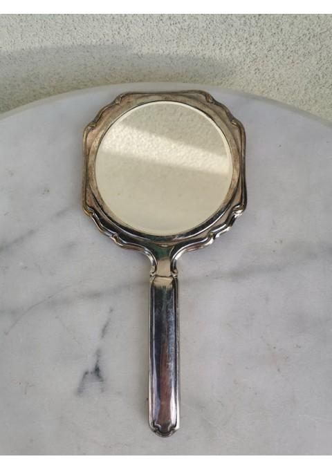Veidrodėlis su rankena, sidabruotas, antikvarinis. Heka. Belgija. Kaina 38