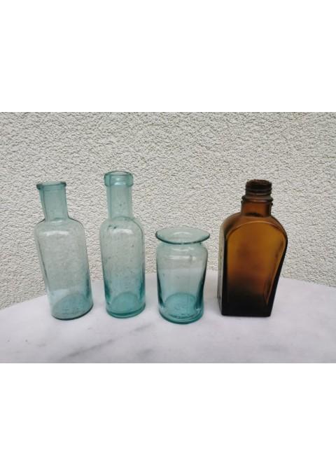 Buteliukai vaistinės antikvariniai. 4 vnt. Kaina po 6
