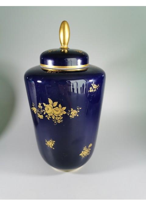 Vaza, urna porcelianinė, kobalto. Upsala Ekeby KP Karlskrona Sweden. Kaina 36