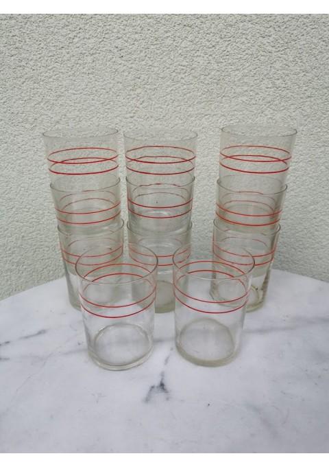 Stiklinės tarybinės, plonasienės podstakanikams, stiklinių laikikliams, stiklindėtėms. 200 gr. 11 vnt. Kaina po 3
