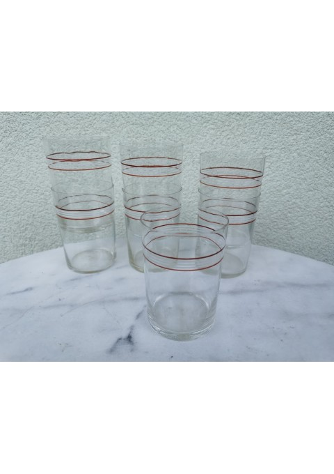 Stiklinės tarybinės, plonasienės podstakanikams, stiklinių laikikliams, stiklindėtėms. 200 gr. 7 vnt. Kaina po 3