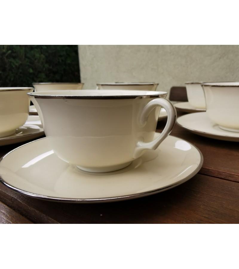 Puodeliai porcelianiniai, antikvariniai, gaminti iki 1928 m. EPIAG Czechoslovakia. 6 vnt. Talpa 150 ml. Kaina po 8