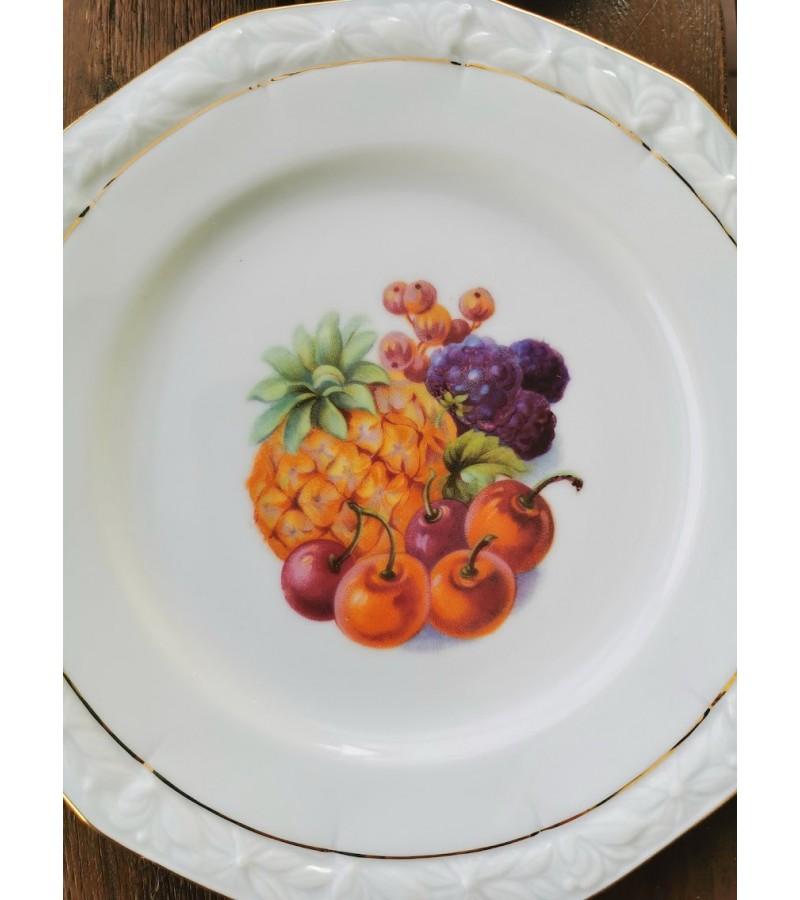Lėkštės porcelianinės, antikvarinės. P.A.L.T. Czechoslovakia. 12 vnt. REZERVUOTA