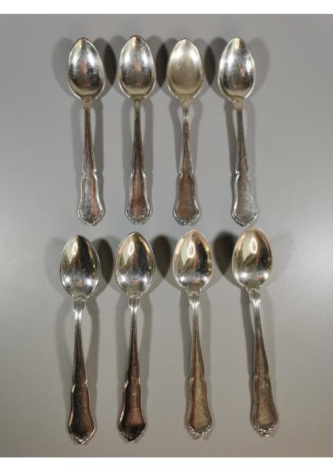 Šaukšteliai sidabriniai, antikvariniai. 8 vnt. Kaina 158 už visus.