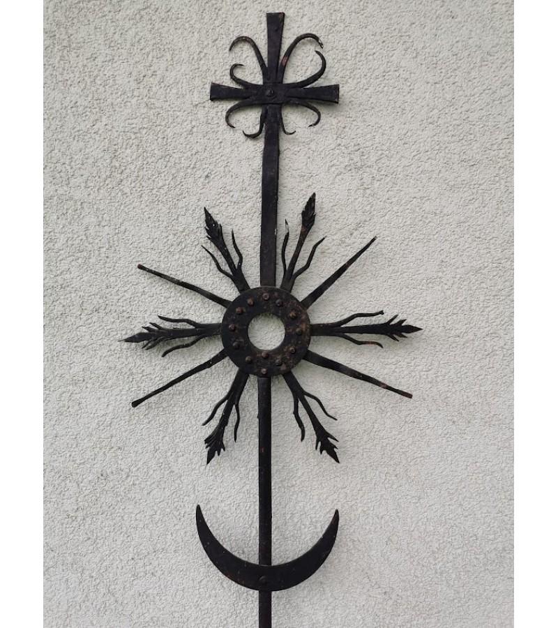 Kryžius - saulutė metalinė Tėvo Stanislovo. Kaina 163