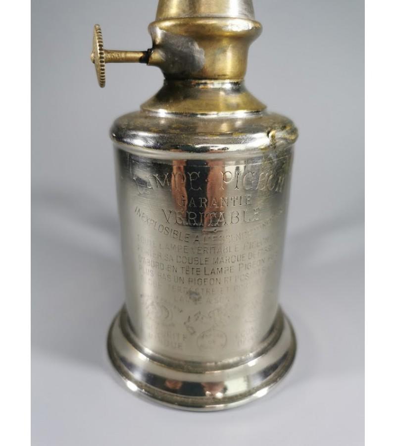Lempa antikvarinė PIGEON, prancūziška, originali, pastatoma, pakabinama. Kaina 43