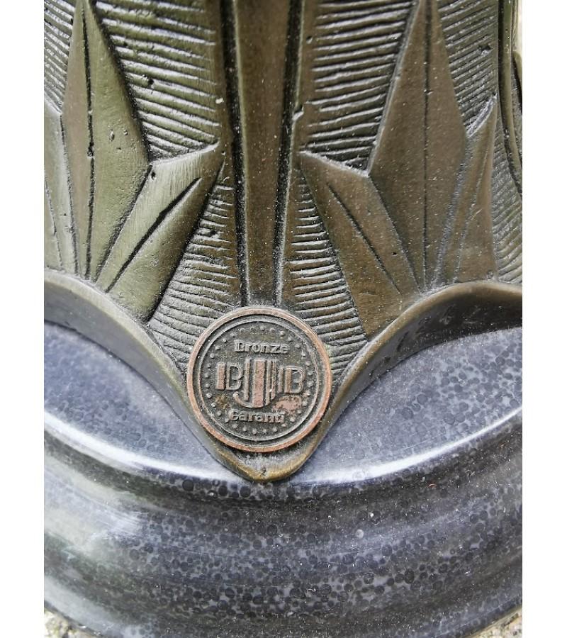 """Statula bronzinė Art Deco Šokėja. 1925 m. Ferdinand Preiss """"Con Brio"""" kopija pagaminta Prancūzijoje. Kaina 268"""