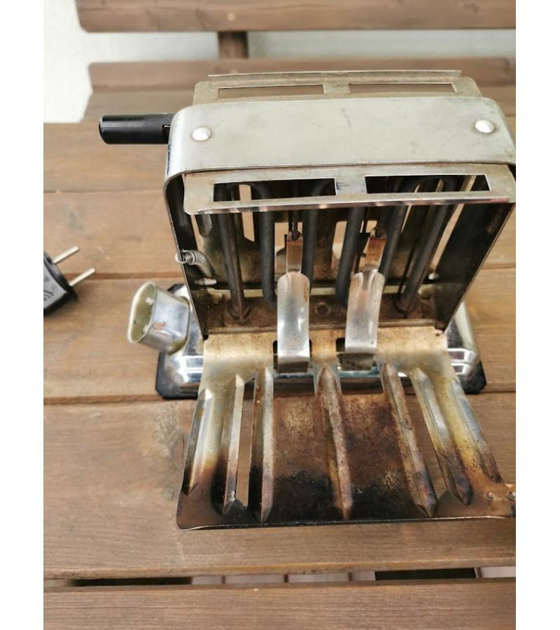 Tosteris, elektrinis duonos skrudintuvas, antikvarinis, veikiantis, su laidu. Kaina 63