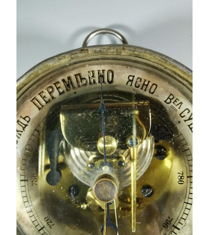 Barometras Carinės Rusijos imperijos laikų, antikvarinis, veikiantis, pakabinamas. Kaina 93
