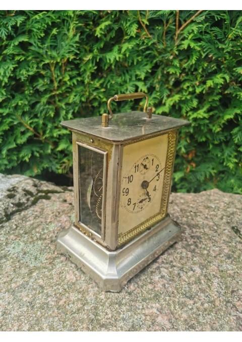 Laikrodis antikvarinis, karietos Junghans. Veikiantis. Kaina 138