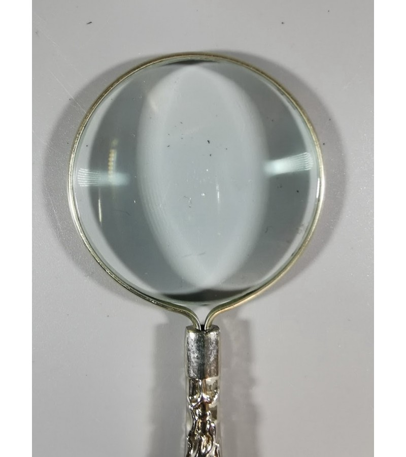 Padidinimo (didinimo) stiklas, lupa metaline rankena senovinio stiliaus. Kaina 21