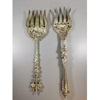 Šakutės didelės, 28 cm. ilgio, antikvarinės. 2 vnt. Kaina po 13