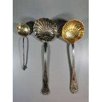 Kiaurasamčiai-šaukštai antikvariniai, sidabruoti. 3 vnt. Kaina 5 ir du ilgesni po 18