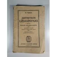 Knyga Aritmetikos uždavinynas. Pr. Mašiotas. 1924 m. Kaina 8