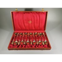 Šaukšteliai puošnūs, antikvariniai originalioje dėžutėje. REZERVUOTA