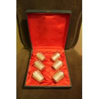 Taurelės, dengtos storu sidabro sluoksniu. Tarybinių laikų, originalioje dėžutėje, 6 vnt. Kaina 63