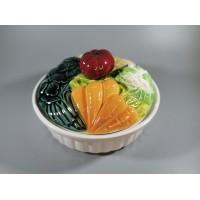 Indas puoštas daržovėmis, fajanso, prancūziškas. Kaina 43