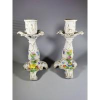 Žvakidės porcelianinės, dresdeno, vokiškos. 2 vnt. Kaina po 43