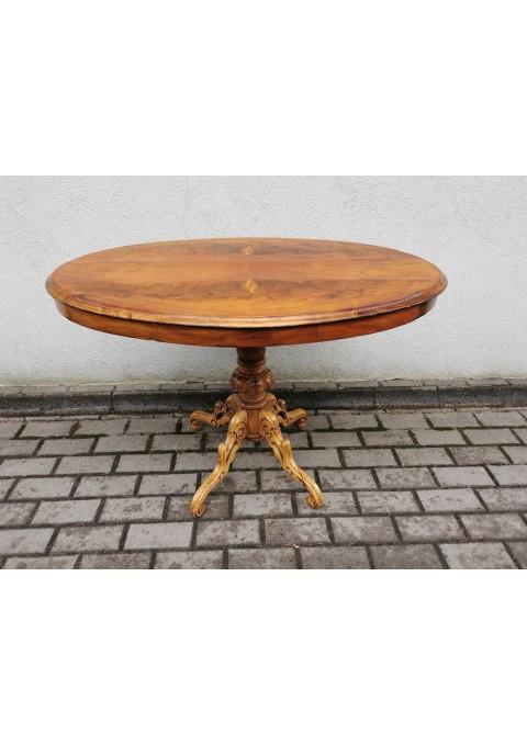 Stalas antikvarinis, ovalus, medžio masyvo. Kaina 87