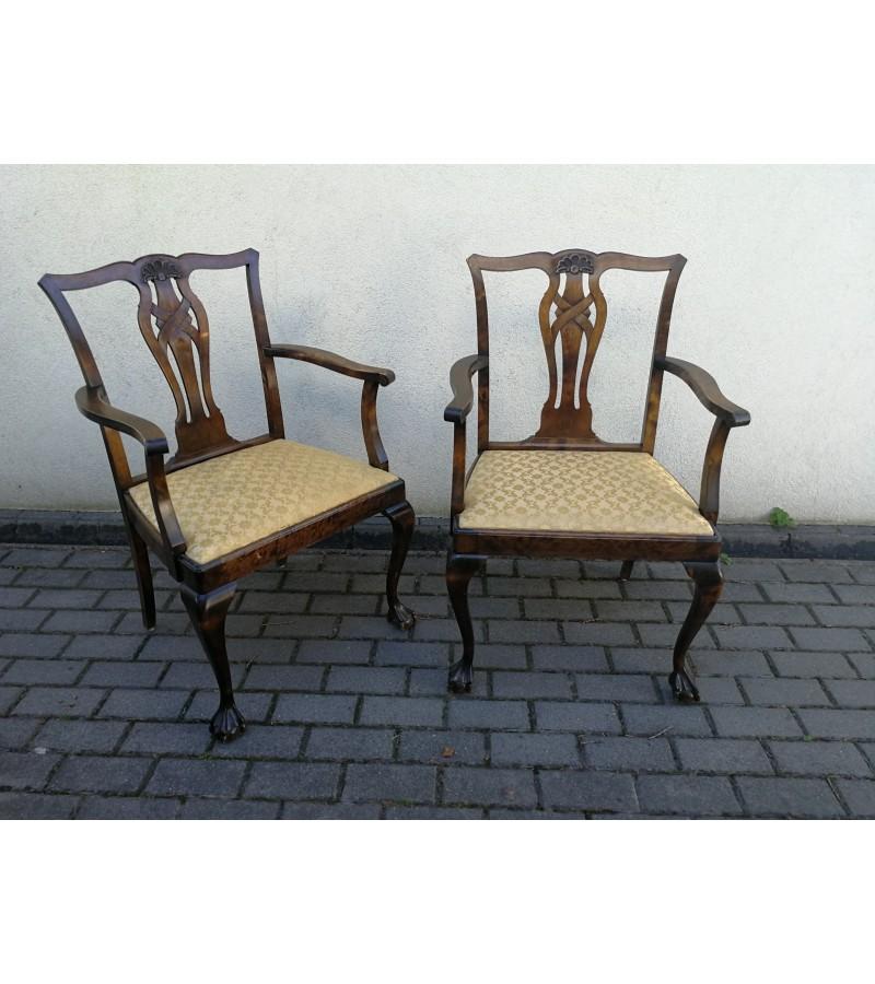 Kėdės, krėslai Chippendale antikvarinės. 2 vnt. Kaina po 72