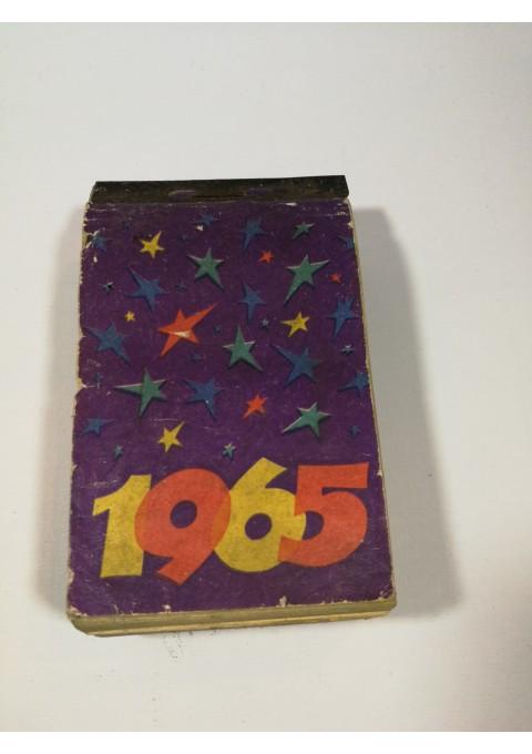 Kalendorius sieninis, plėšomas, 1965 m. Kaina 18