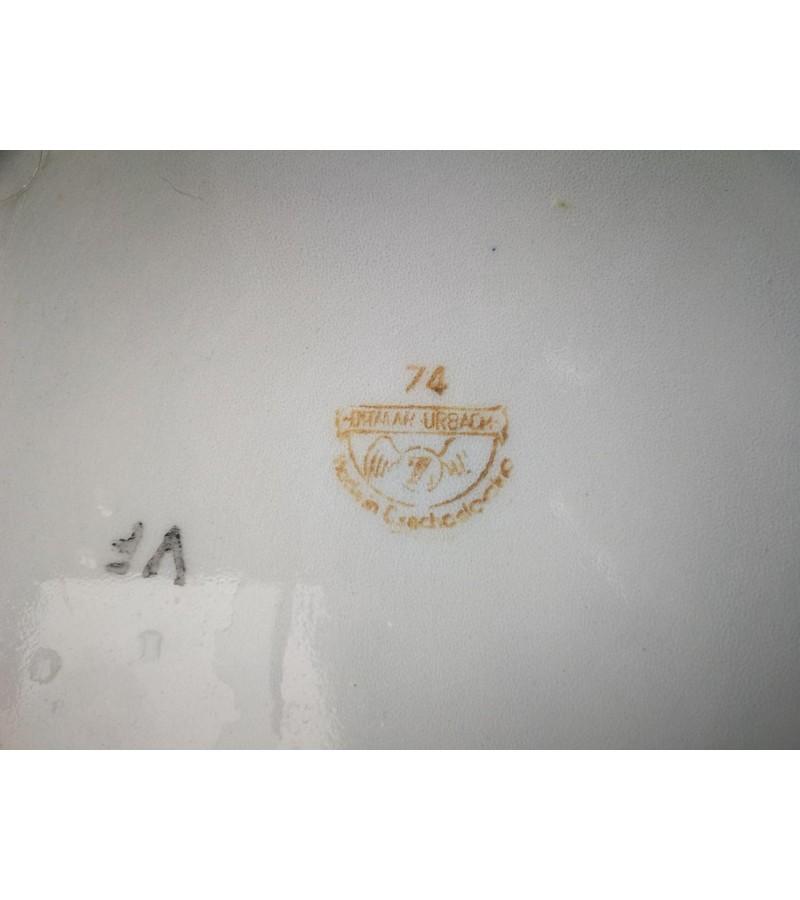 Indas, vazonas antikvarinis, porcelianinis DITMAR URBACH. Made in Czechoslovakia. Kaina 32