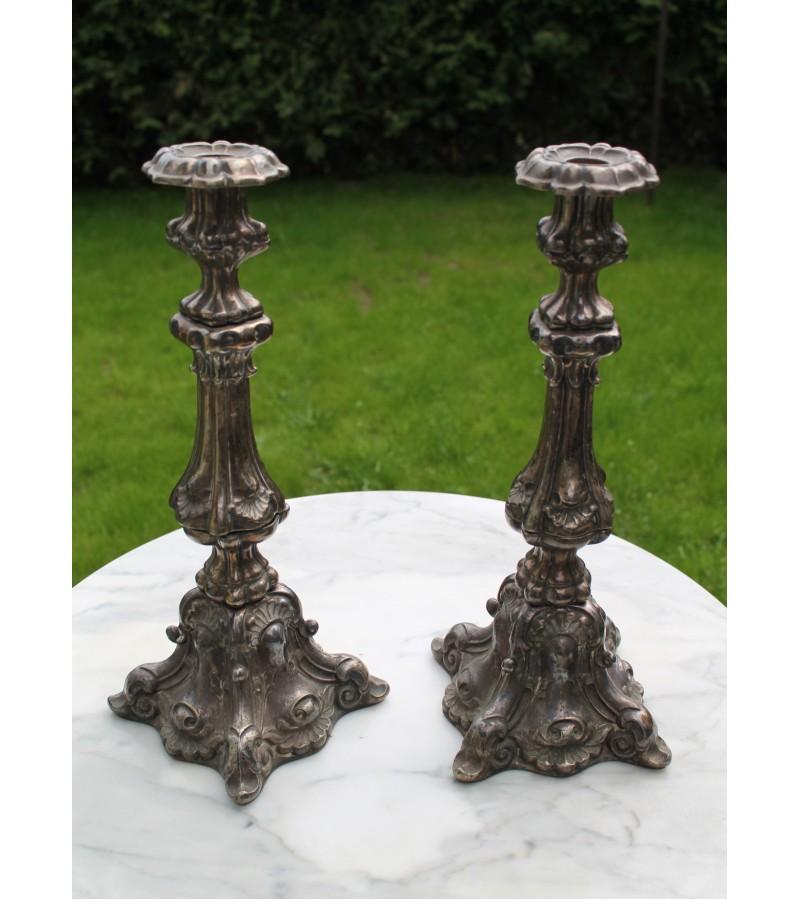 Žvakidės antikvarinės, sunkios. 2 vnt. - 4 kg. Kaina 157 už abi.