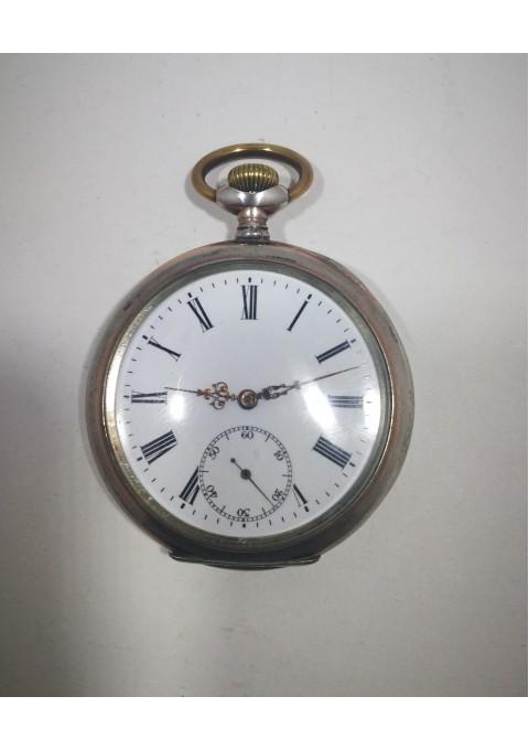 Laikrodis sidabrinis, antikvarinis, kišeninis SPIRAL BREQUET, Ancre 15 Rubis. Veikiantis. Kaina 87