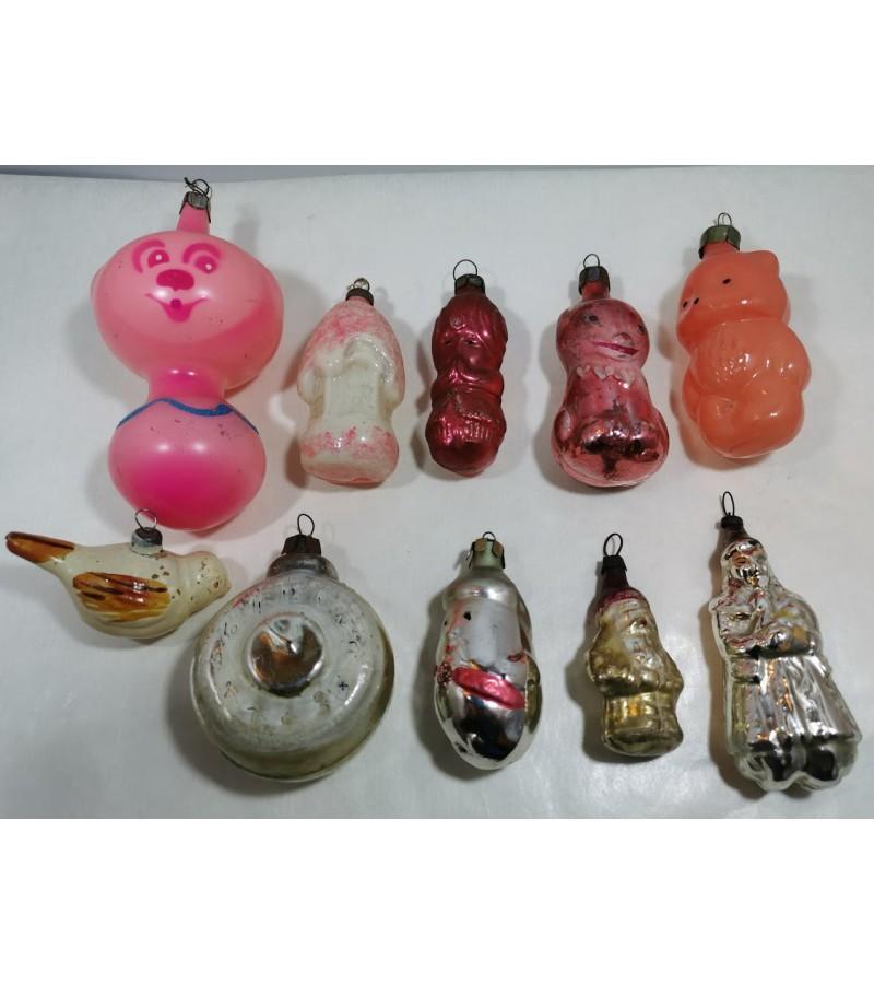 Eglutės žaisliukai figūriniai. Kaina po 4