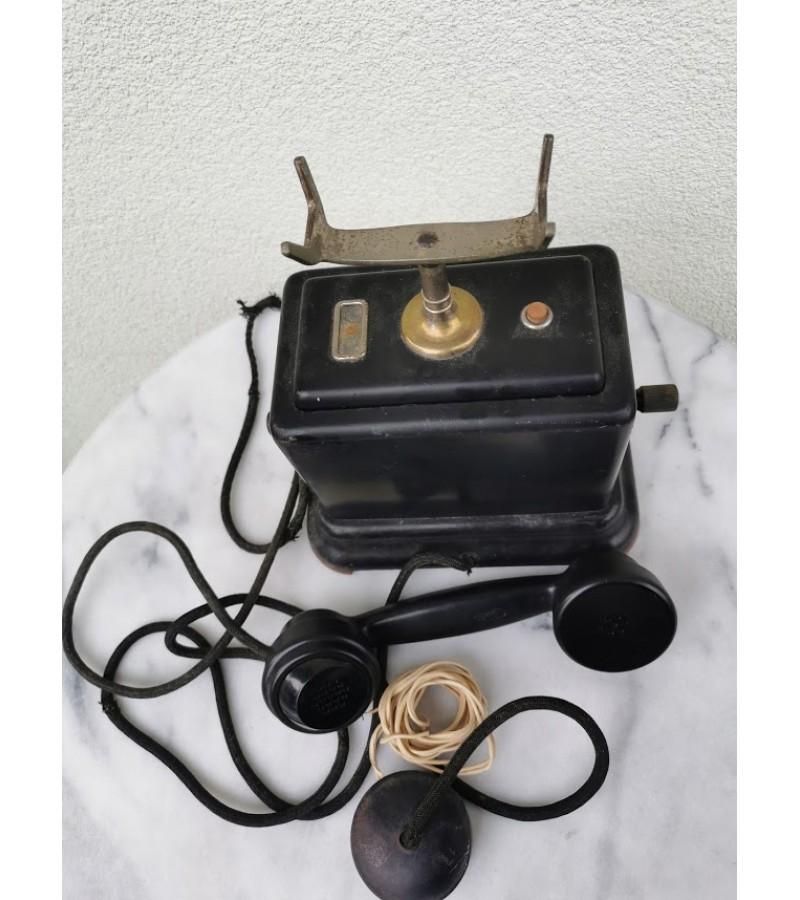 Telefonas antikvarinis dviejų rankenėlių. Kaina 187
