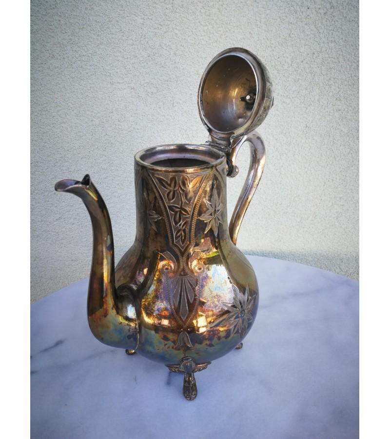 Arbatinis/kavinukas antikvarinis, metalinis. Kaina 32