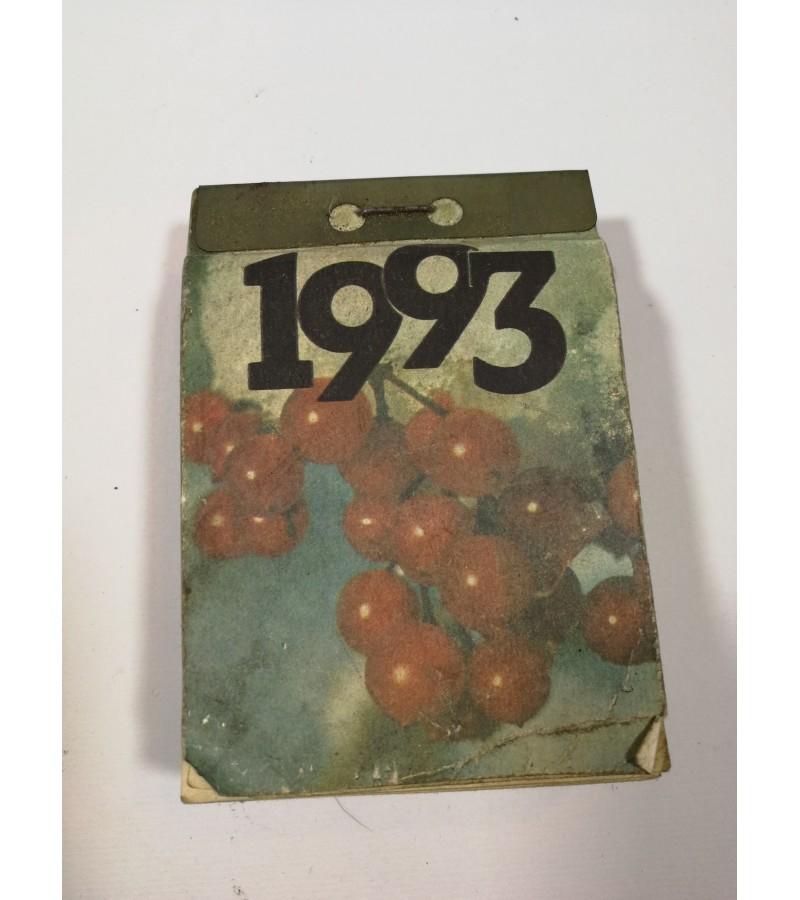 Kalendorius sieninis, plėšomas, 1993 m. Kaina 16.