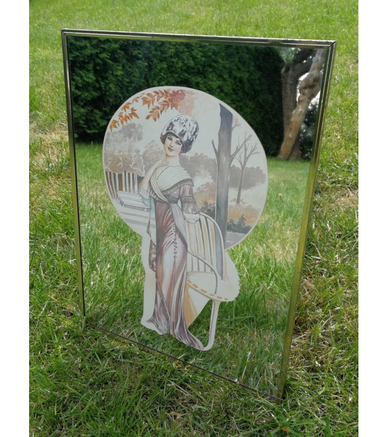 Paveikslas - veidrodis Art nouveau, Jugendstil. Kaina 18
