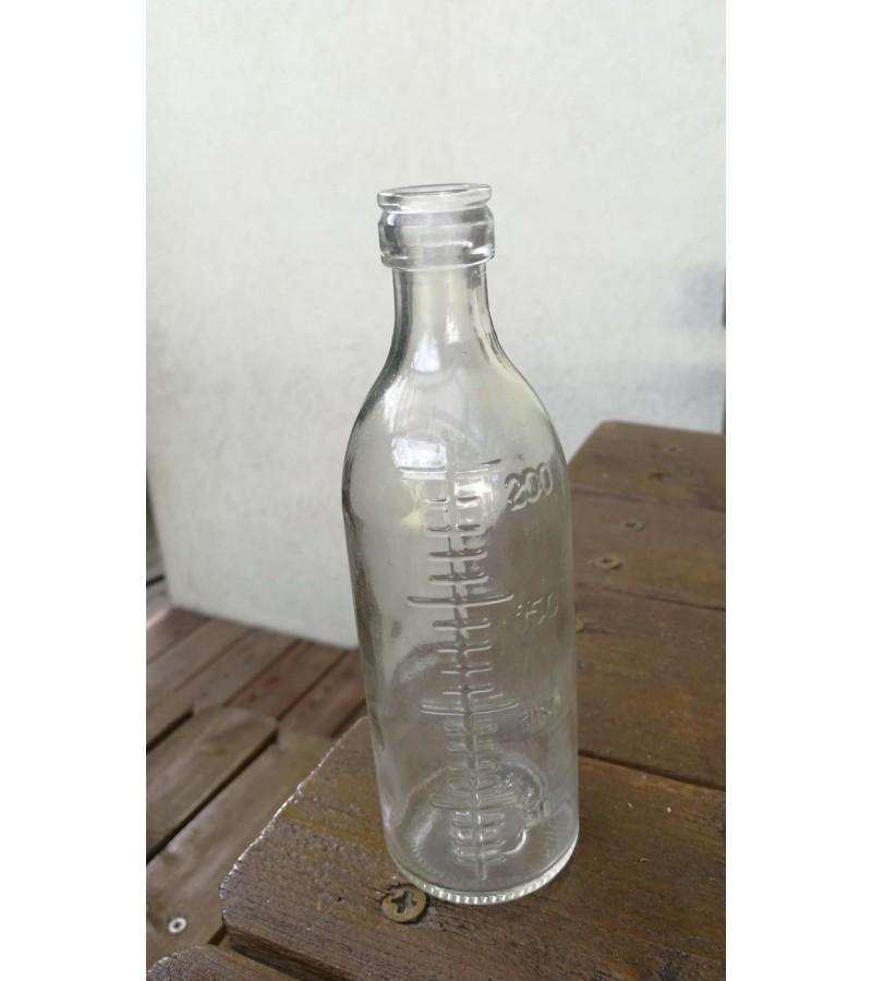 Butelis medicininis, graduotas. 200 ml. Kaina 8