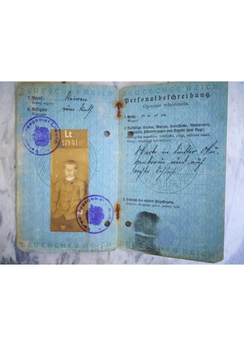 Pasas 1917 m., okupuota Lietuva. Verwaltmagsgebiet Litauen. Kaina 18