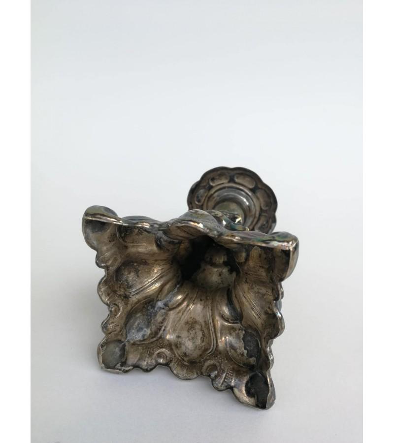 Žvakidė antikvarinė, sidabruota. Kaina 13